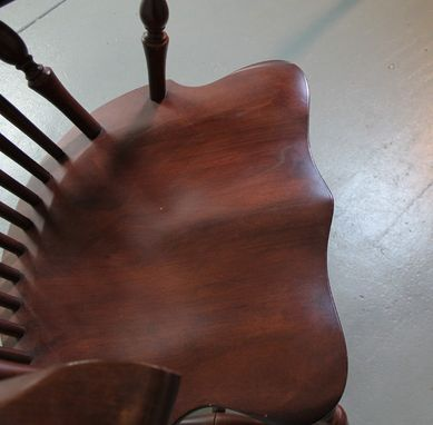 Custom Made Wood Dining Room Chair With Golden Brown Finish