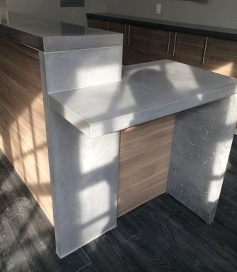 Custom Made Commercial Concrete Counters Countertops Reception Area Nyc