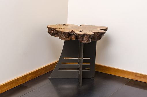 Custom Made Live Edge Cherry Side Table