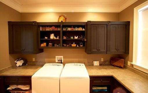 Custom Made Utility/ Laundry Room Built-In Cabinetry
