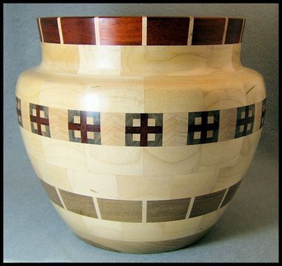 Custom Made Segmented Wooden Vessel