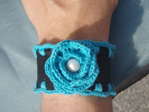 Custom Made Leather Rhapsody- Leather & Crochet Cuffs