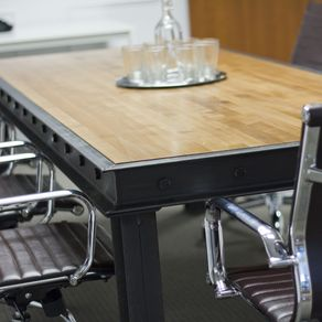 Buy A Hand Made Industrial Conference Table Made To Order From - Industrial conference room table