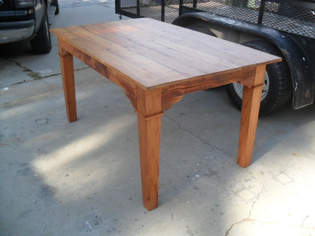 Custom Made Dining Table From Reclaimed Wood In The Usa