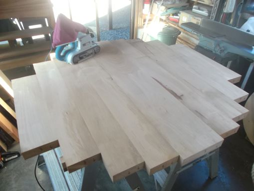 Custom Made Round Madrone (Arbutus) Table