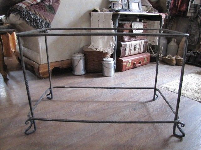 Handmade Hand Forged Custom Table Legs For A Burl by Rocking