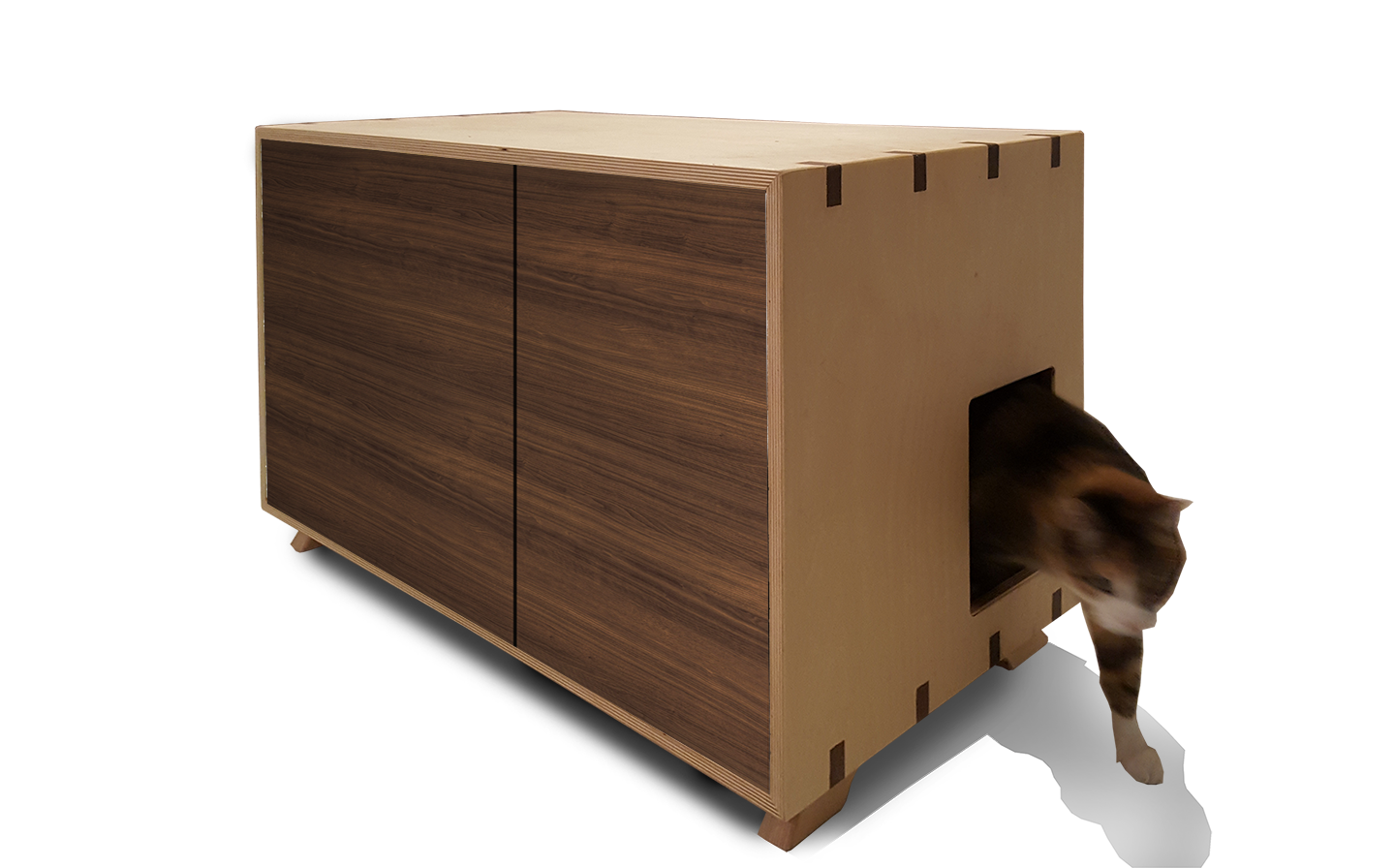 Custom Made Litter Box Cabinet Dog Proof