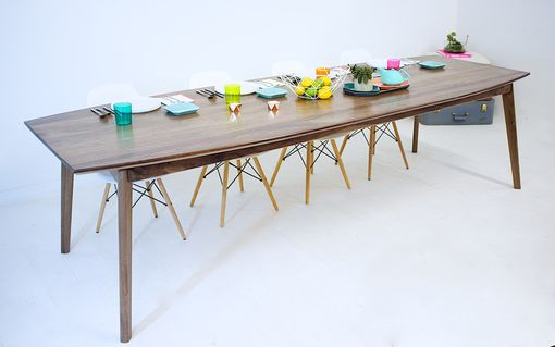 Custom Made Santa Monica Solid Walnut Dining Table: Large