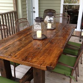 Reclaimed Wood Furniture And Barnwood Furniture CustomMadecom - Refurbished wood dining room table