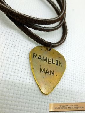 Custom Made Guitar Pick Necklace