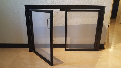 Custom Made Fireplace Screen Doors