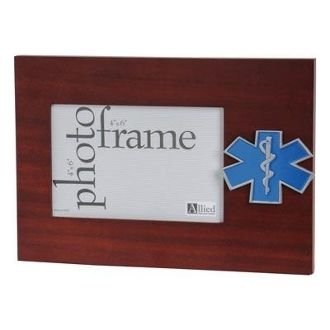 Custom Made Ems Medallion Desktop Picture Frame
