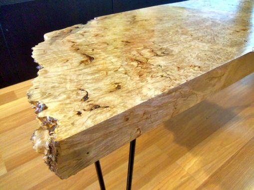 Custom Made Coffee Table - Big Leaf Maple Burl