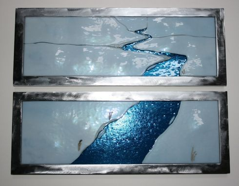 Custom Made Winter River In Glass