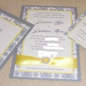 Custom wedding invitations custommade 100 beautiful handrafted custom damask invite by nancy brooking filmwisefo