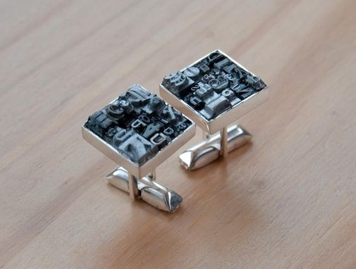 Custom Made Letterpress Type Cufflinks