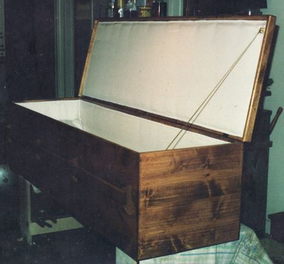Custom Made Pine Casket With Satin Lining