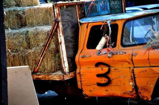 Custom Made Fine Art Photograph Of Hay Truck #3