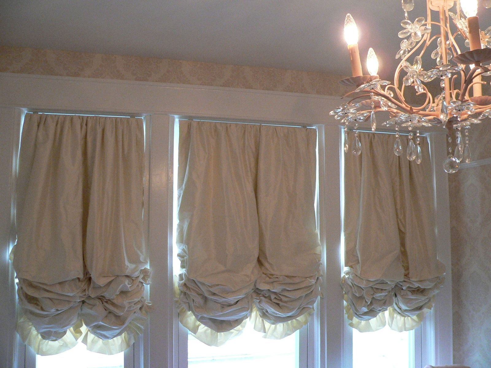 Custom Made Balloon Style Window Shades