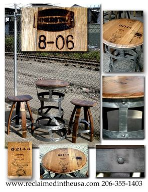Custom Made End Of Year Sale! Barrel Top Bistro Table