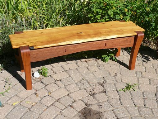 Custom Made Mahogany & Mulberry Bench