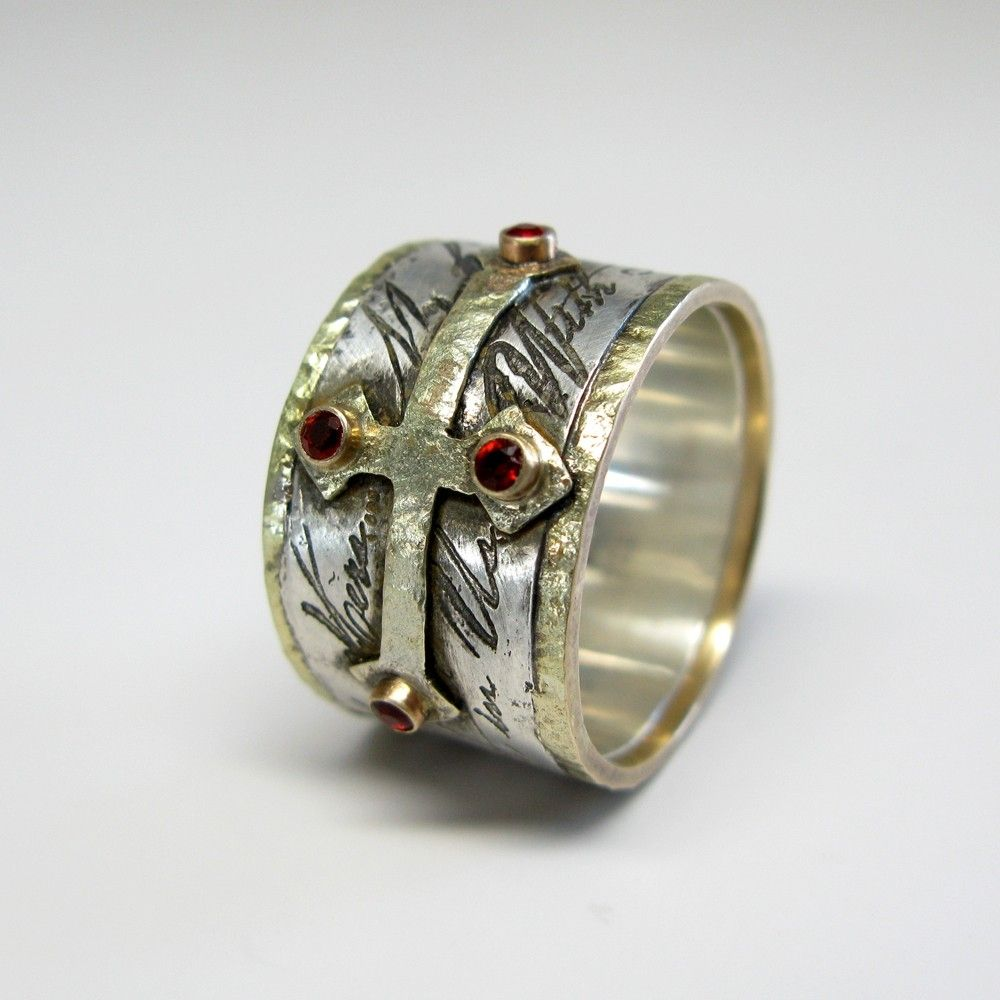 Handmade mens custom wedding ring by janice art jewelry for Custome wedding rings