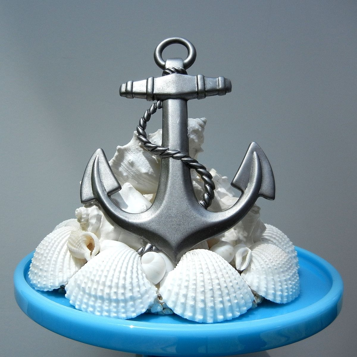 Custom Made Sea Anchor Seashell Starfish Wedding Cake