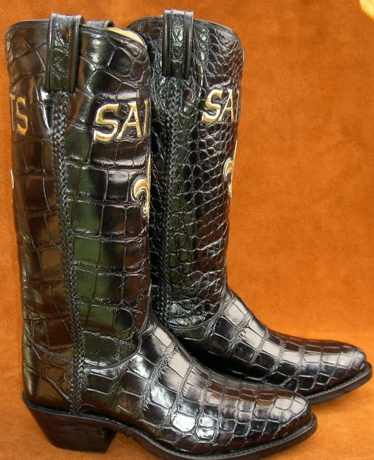 Hand Made Sports Team Alligator Boots by Ghost Rider Boots