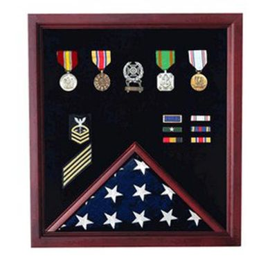 Custom Made Vietnam Veteran Flag Display Case