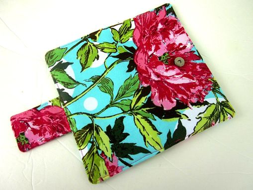 Custom Made Handmade Women Wallet Pink Peony Large Floral - Ready To Ship