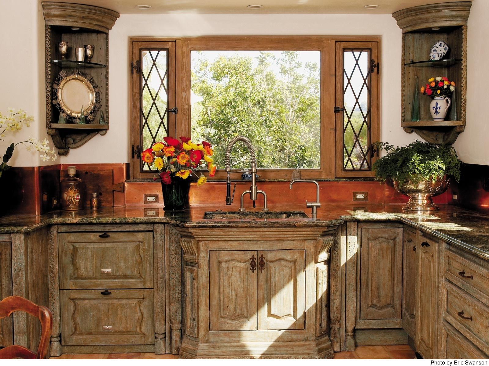 Handmade Custom Kitchen Cabinets By La Puerta Originals Inc - Kitchen cabinet stores near me