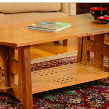 Custom Made Charles Limbert Inspired Coffee Table