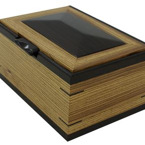 Men S Valet Watch Box Solid Zebrawood With Wenge Accents By Nicholas Jones