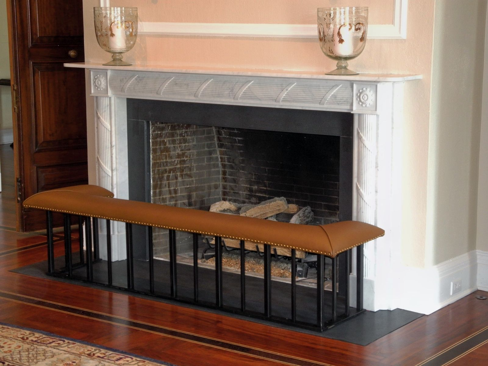 Handmade Club Fender Fireplace Bench - The 'Full' Model by Old ...