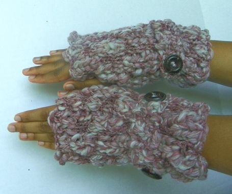 Custom Made Bukni Mitts / In Dusty Muave / Fall Winter Fashion Thick And Warm Fingerless Gloves