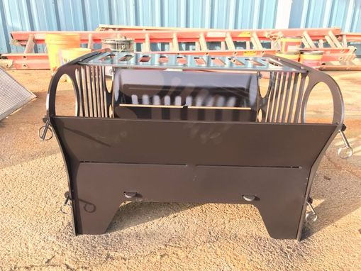 Custom Made Custom Jeep Fire Pit And Grill