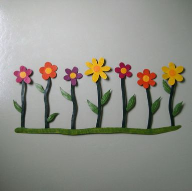 Custom Made Metal Flower Art Wall Hanging Decor Outdoor Wall Sculpture