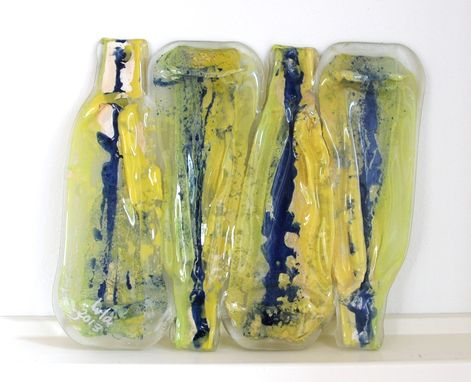 Custom Made Recycled  Bottle Glass Art