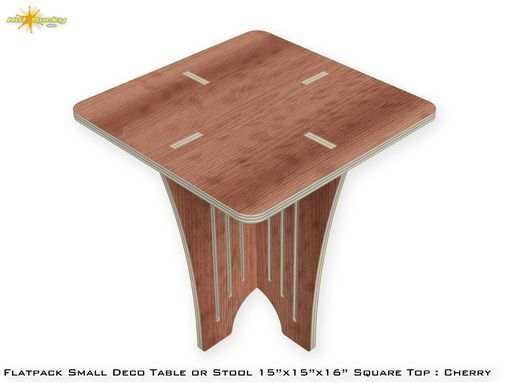 Custom Made Flat Pack Small Deco Style Table Or Stool