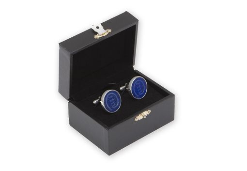 Custom Made Custom Engraved Lapis Cufflinks Modern