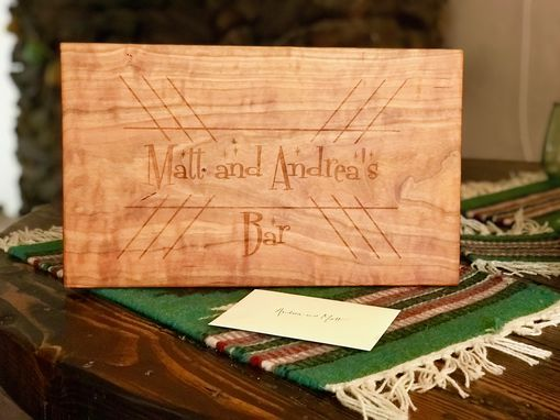 Custom Made Custom Engraved Cutting Board