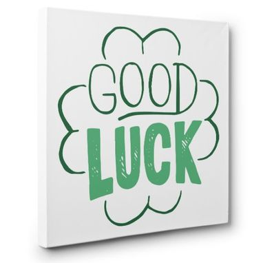 Custom Made Happy St. Patrick'S Day Good Luck Canvas Wall Art
