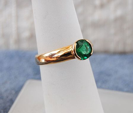 Custom Made 14k Gold Ring With One Carat Emerald