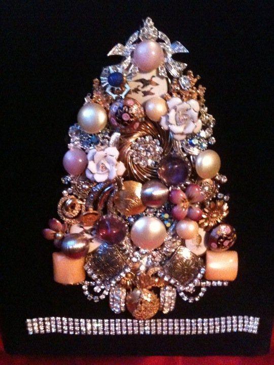Custom Made Vintage Heirloom Jewelry Shadow Box