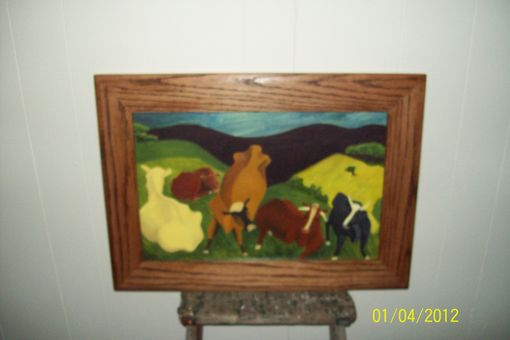 Custom Made Bucolic Landscape Interpretation Of Painting By Milton Avery