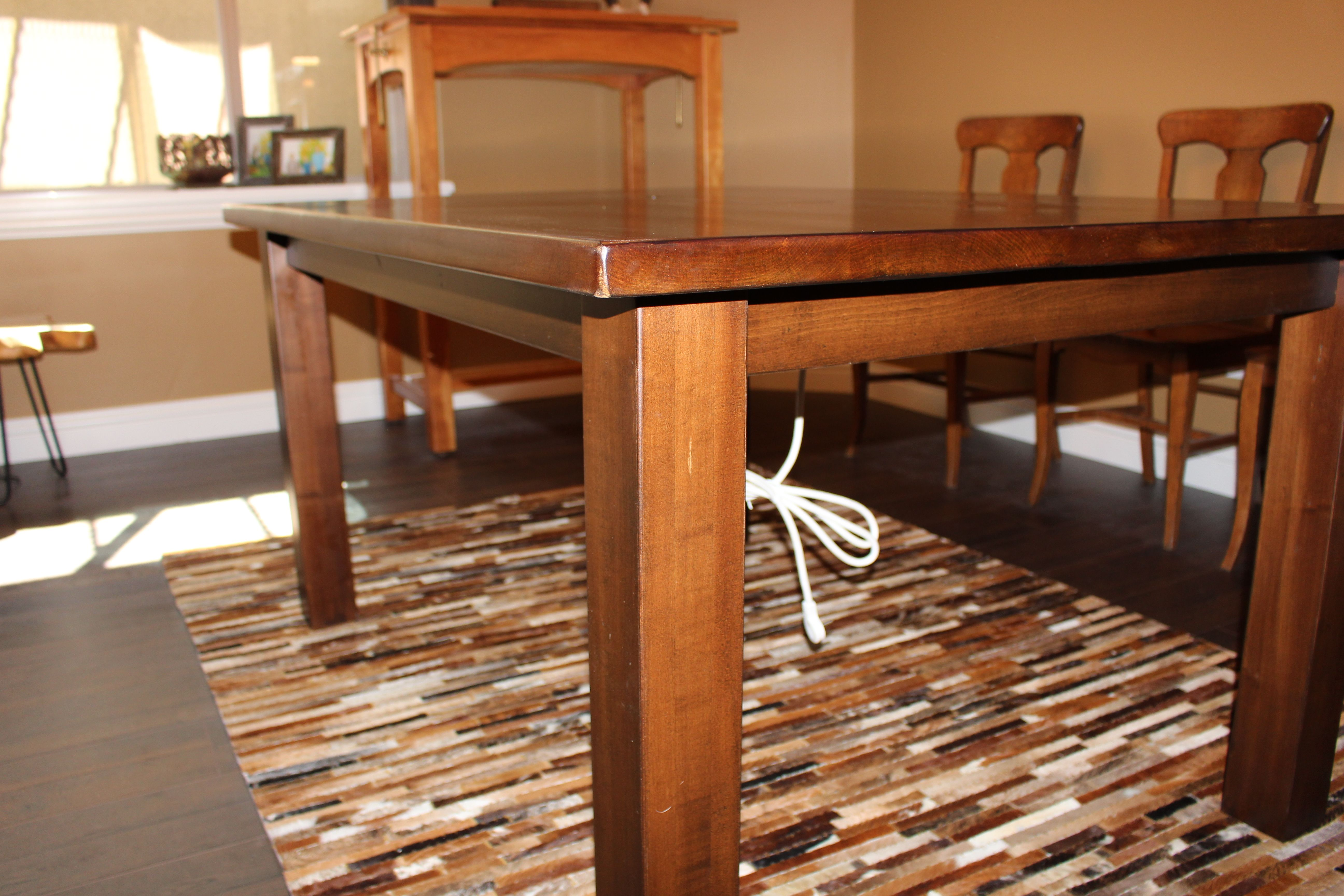 Hand Made Salvaged Oak Conference Table Built In Strip By Defiance Hardwood Custommade