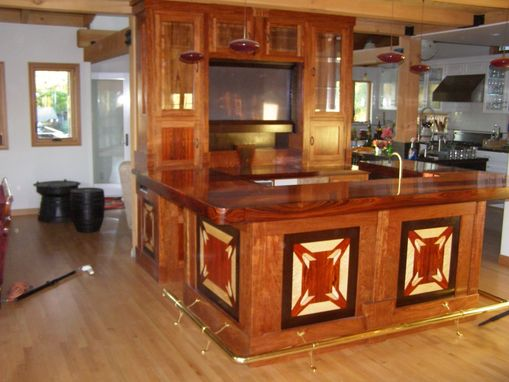 Custom Made Bar,Cabinets And Interainment Center