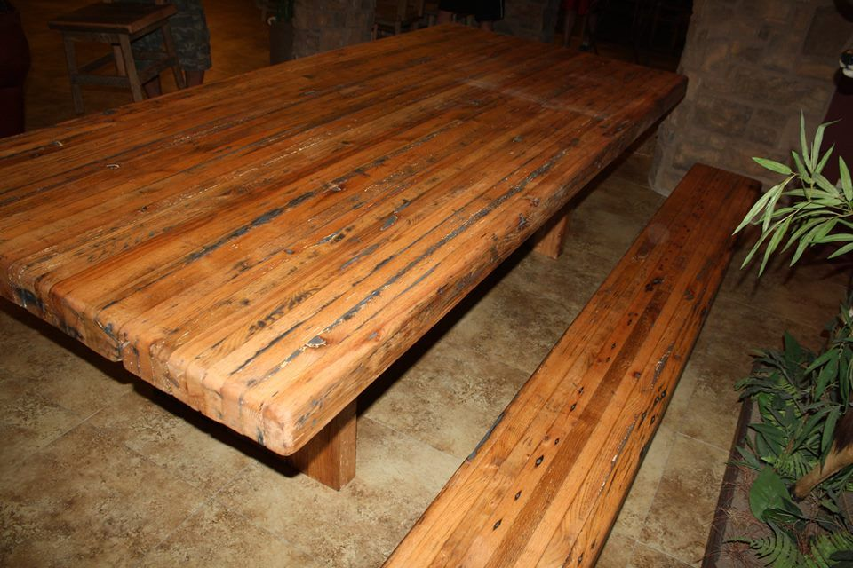 Buy a hand crafted reclaimed barn wood butcher block table for Buy reclaimed wood online