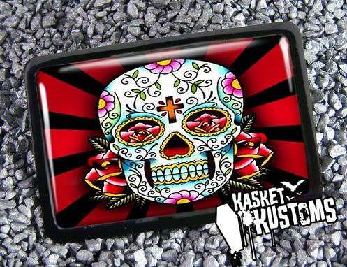Custom Made Dia De Los Muertos Day Of The Dead Skull Belt Buckle Bb-135-Br