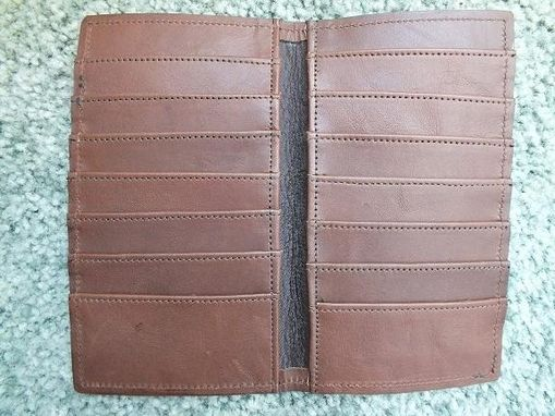 Custom Made Close-Up Of Inside Double Fold Credit Card Wallet
